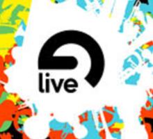 Ableton Live Splatter Logo Sticker