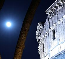 The moon and the Colosseum by Antonello Mariani