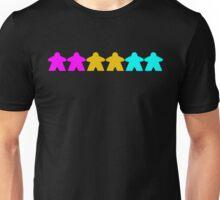 Pansexual Pride (Minimal Meeple Edition) Unisex T-Shirt