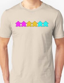 Pansexual Pride (Minimal Meeple Edition) T-Shirt
