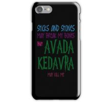 Avada Kedavra may kill me iPhone Case/Skin