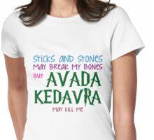 Avada Kedavra may kill me Womens Fitted T-Shirt