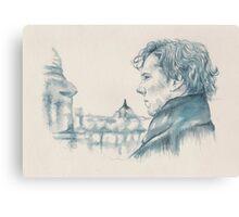 A Study In Blue - Sherlock Canvas Print