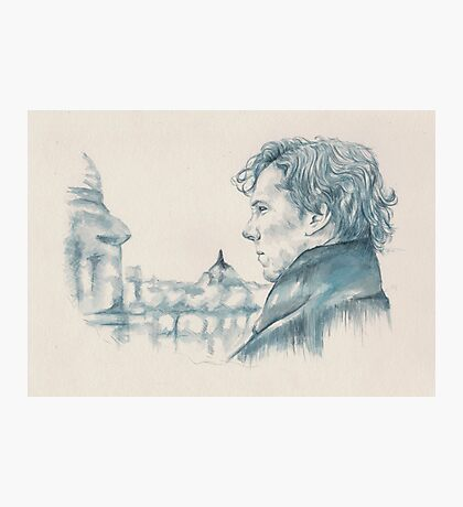 A Study In Blue - Sherlock Photographic Print