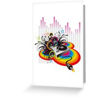 Vinyl Record Music Collage Greeting Card