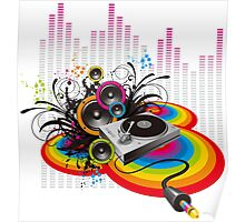 Vinyl Record Music Collage Poster