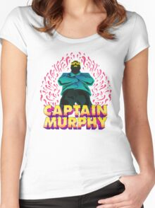 Captain Murphy - Flames Women's Fitted Scoop T-Shirt