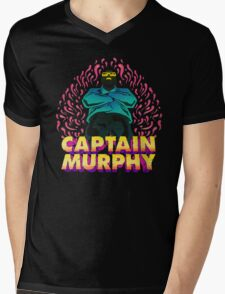 Captain Murphy - Flames Mens V-Neck T-Shirt