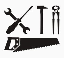 Screwdriver wrench hammer saw Baby Tee