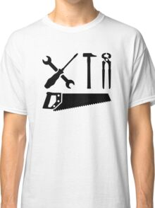 Screwdriver wrench hammer saw Classic T-Shirt