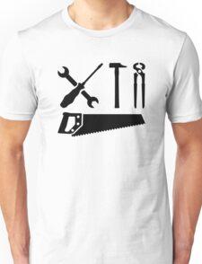 Screwdriver wrench hammer saw Unisex T-Shirt
