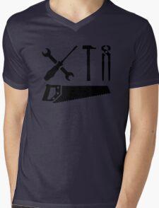 Screwdriver wrench hammer saw Mens V-Neck T-Shirt