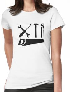 Screwdriver wrench hammer saw Womens Fitted T-Shirt