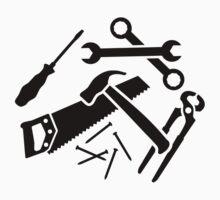 Tools saw hammer nails screwdriver Baby Tee