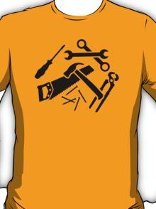 Tools saw hammer nails screwdriver T-Shirt