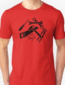 Tools saw hammer nails screwdriver T-Shirt