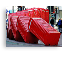 The Domino Effect - Out of Order !!!! Canvas Print