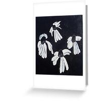 Monochrome Daisies Greeting Card