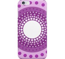 Vector Circles - Purple iPhone Case/Skin