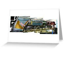Cut Away Steam Engine (Photos x3) Greeting Card