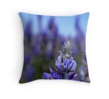 Lady Bug Lupin, Eastern Sierra Throw Pillow