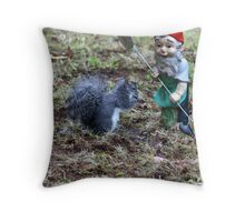 One more step and the Squirrel gets it! Throw Pillow