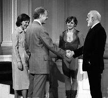 Baryshnikov, Jerome Robbins, President and Mrs. Carter. White House 1979. by Daniel Sorine