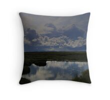 Isle  of  Lewis  blue  puddle Throw Pillow