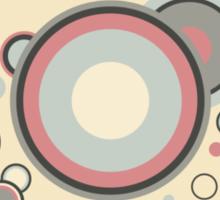 Retro Streaming Rings Sticker