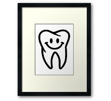 Smiling tooth Framed Print