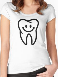 Smiling tooth Women's Fitted Scoop T-Shirt