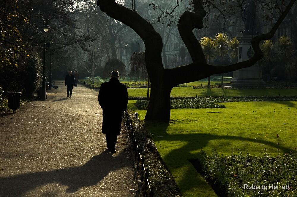 Mystery Man and Tree by Roberto Herrett