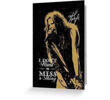Rock singer golden poster on black background Greeting Card