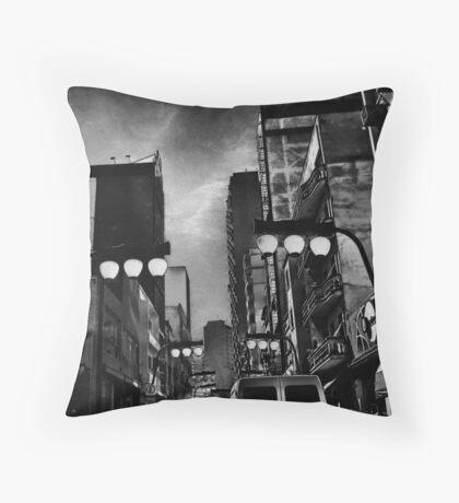 night falls in gotham Throw Pillow