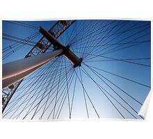London Eye Wheel Close-Up Poster