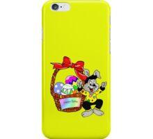 Easter bunny with Easter egg basket iPhone Case/Skin