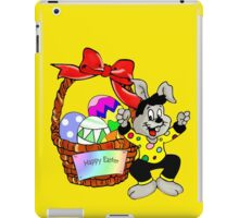 Easter bunny with Easter egg basket iPad Case/Skin