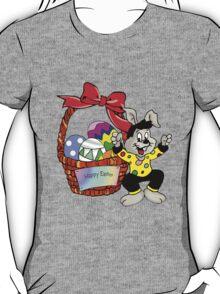 Easter bunny with Easter egg basket T-Shirt