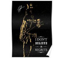 Musician golden poster on black background Poster