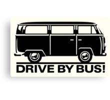 VW T1/2 - Drive by Bus Canvas Print