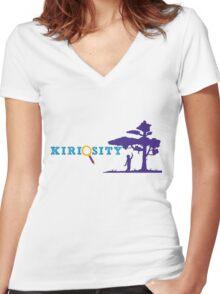 Kiriosity Logo (Classic) Women's Fitted V-Neck T-Shirt
