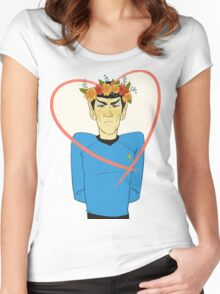 First Officer Spock Valentine Women's Fitted Scoop T-Shirt