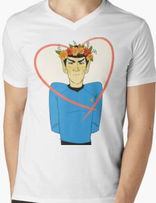 First Officer Spock Valentine Mens V-Neck T-Shirt