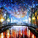Misty Bridge — Buy Now Link - www.etsy.com/listing/173255472 by Leonid  Afremov