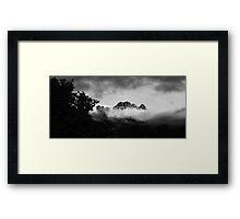 Mountain View Queenstown New Zealand BW Framed Print