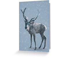 Reindeer low poly (winter) Greeting Card