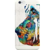 Colorful Bloodhound Dog Art By Sharon Cummings iPhone Case/Skin