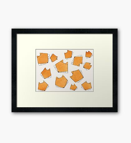 Fox Face Framed Print