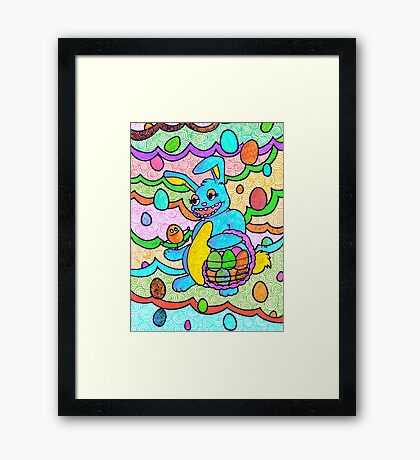 Bee bunny and Ellui egg. Framed Print