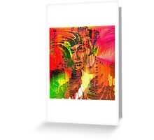 """"""" The woman belongs to the man the pleasant evil. """" Greeting Card"""